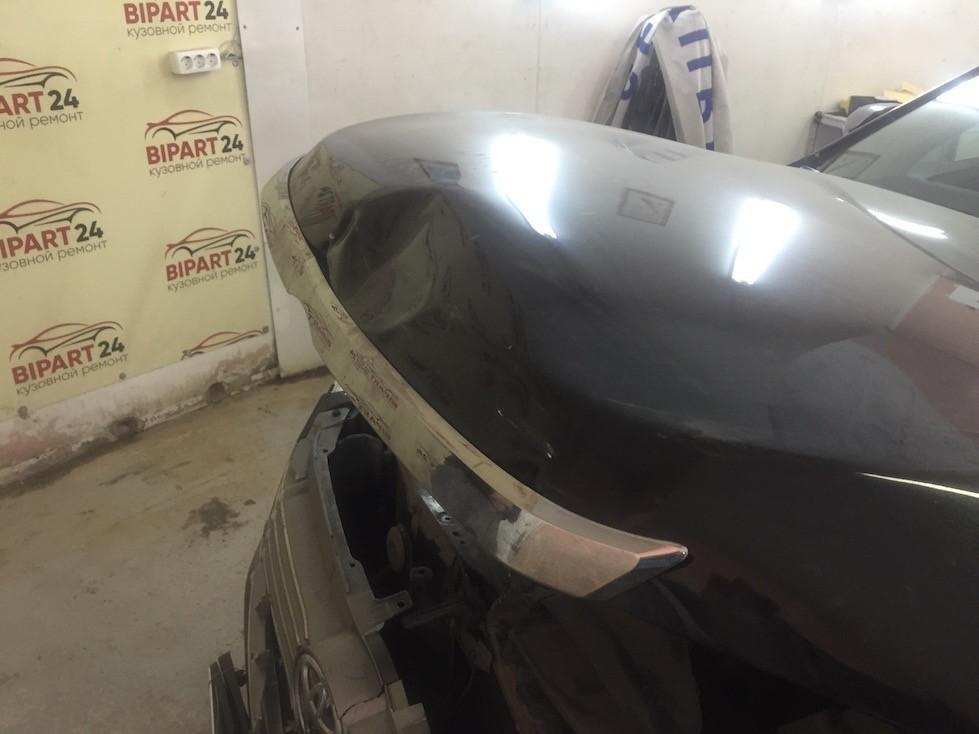 Ремонт капота и переднего бампера на Тойота Камри