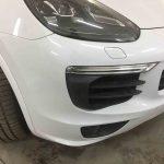 Ремонт переднего бампера на Porsche. Кузовной ремонт, кузовные работы, кузовной ремонт Москва, кузовные работы Москва