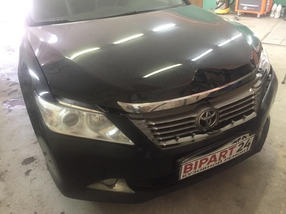 Ремонт капота и переднего бампера на Тойота Камри в BIPART24